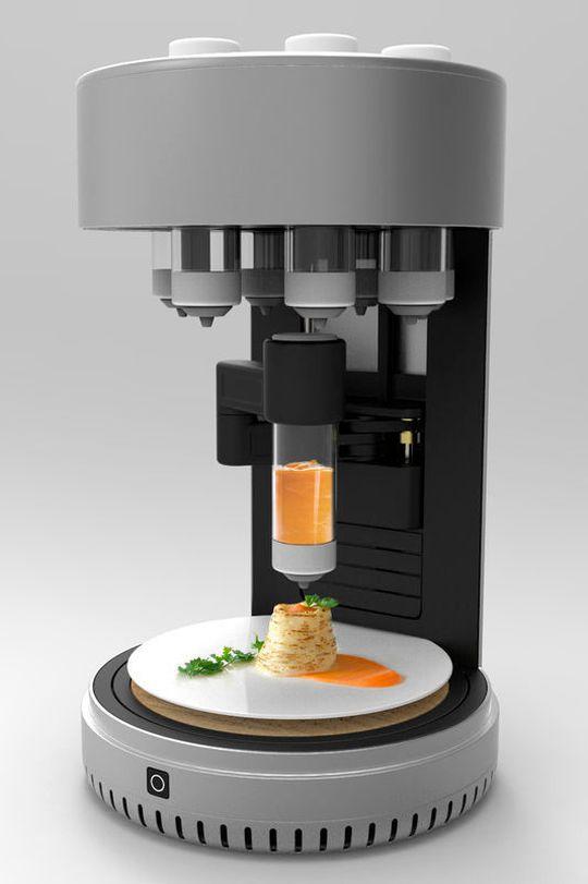 futuro da impressão 3d comida